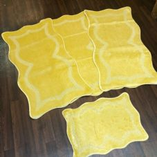ROMANY WASHABLES NEW GYPSY SETS OF 4PC LEMON MATS NON SLIP TOURER SIZES RUG